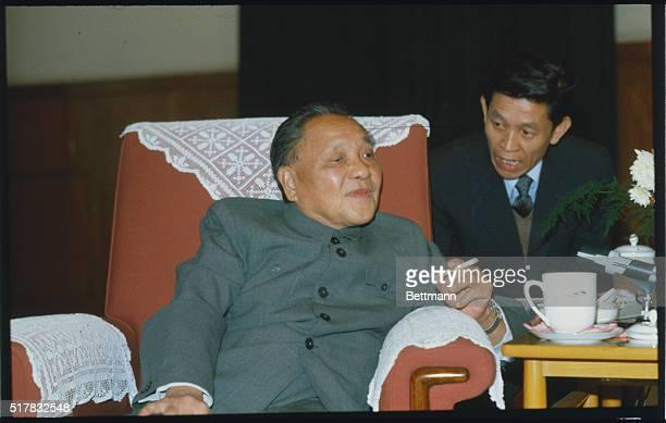 Peking: Vice Premier Deng Xiaoping during press-conference.