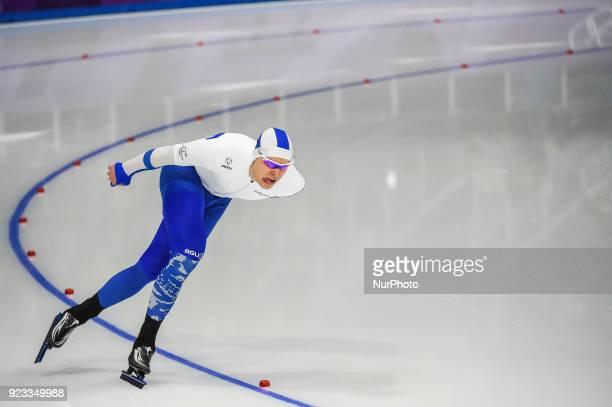 Pekka Koskela of Finland in 1000 meter speedskating at winter olympics Gangneung South Korea on February 23 2018