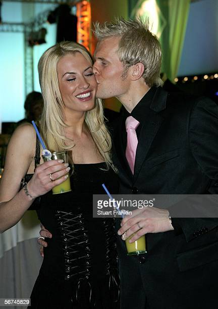 Pekka Lagerblom with his wife AnnaMaria Lagerblom kiss during the Werder Bremen Green White Night 2006 on February 4 2006 at The Congress Centre in...