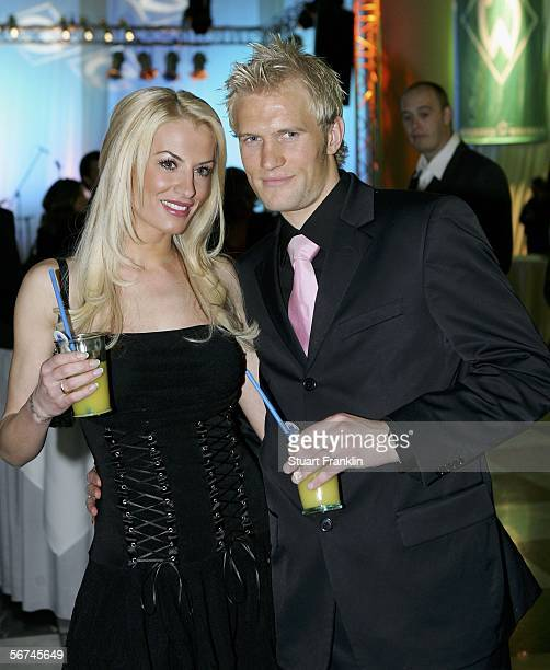 Pekka Lagerblom with his wife AnnaMaria Lagerblom pose during the Werder Bremen Green White Night 2006 on February 4 2006 at The Congress Centre in...