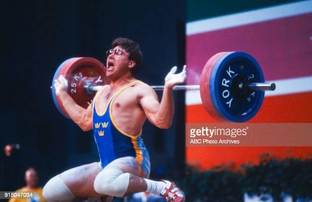Pekka Niemi Weightlifting competition Albert Gersten Pavilion at the 1984 Summer Olympics August 1 1984