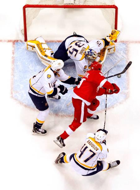 Nashville Predators v Detroit Red Wings - Game Four