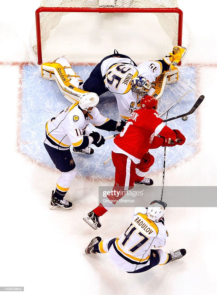 Nashville Predators v Detroit Red Wings - Game Four