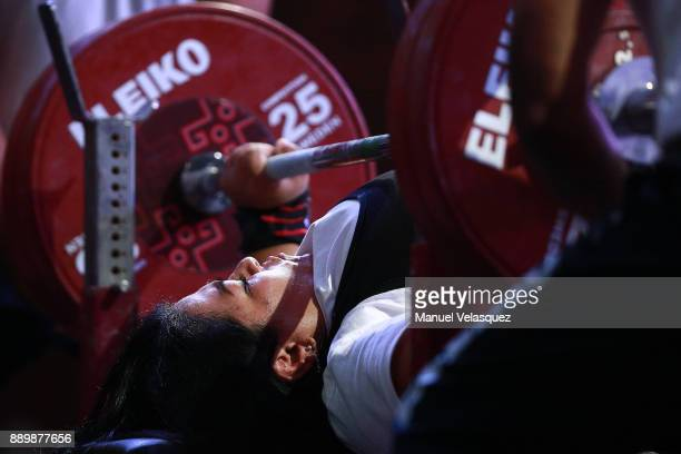 Pela Barcenas of Mexico competes during the Women's Over 86Kg Group A Category as part of the World Para Powerlifting Championships Mexico 2017 at...