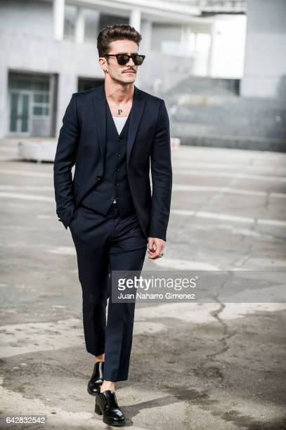 Pelayo Diaz poses at Ifema during Mercedes Benz Fashion Week Madrid Autumn / Winter 2017 on February 18 2017 in Madrid Spain