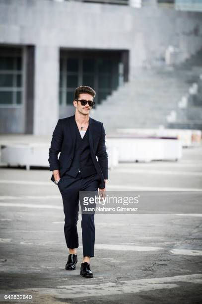 Pelayo DIaz poses during Mercedes Benz Fashion Week Madrid Autumn / Winter 2017 at Ifema on February 18 2017 in Madrid Spain