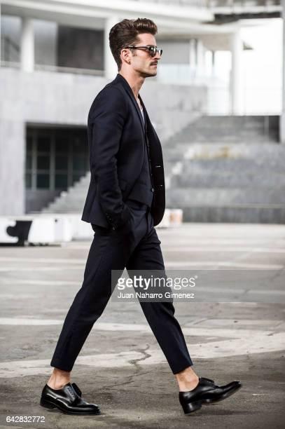 Pelayo DIaz poses during Mercedes Benz Fashion Week Madrid Autumn / Winter 2017 at Ifema on February 18 2017 in Madrid Spain