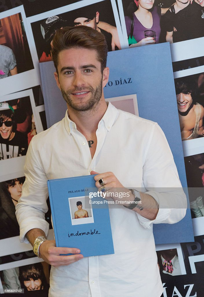 Pelayo Diaz presents his book 'Indomable' on May 31, 2016 in Madrid, Spain.