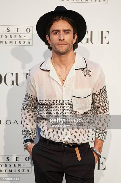 Pelayo Diaz Zapico attends 'Vogue Like a Painting' exhibition at the Thyssen Bornemisza Museum on June 29 2015 in Madrid Spain