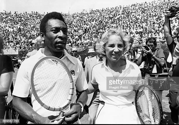 Pele and Ethel Kennedy circa 1978 in Forest Hills, Queens.
