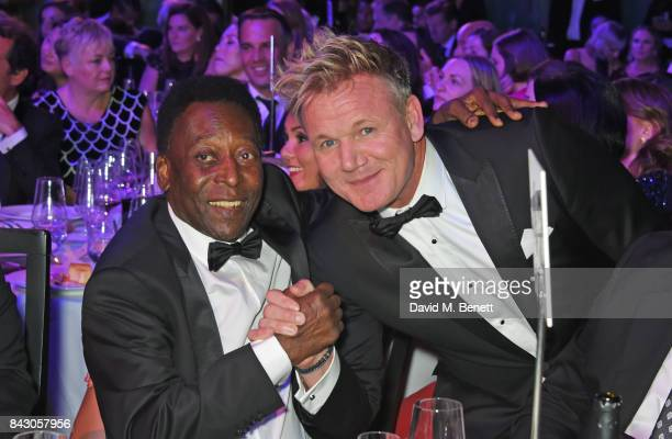 Pele and Gordon Ramsay attend the GQ Men Of The Year Awards at the Tate Modern on September 5 2017 in London England