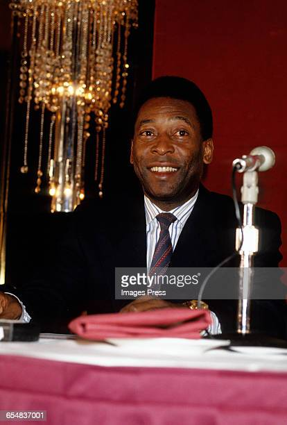Pele at a Mastercard press conference circa 1992 in New York City.