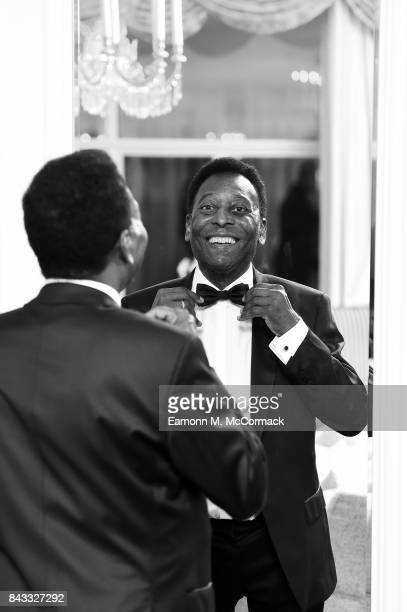 Pele at The Savoy Hotel before his attendance at the GQ Men of the Years Awards on September 5 2017 in London England