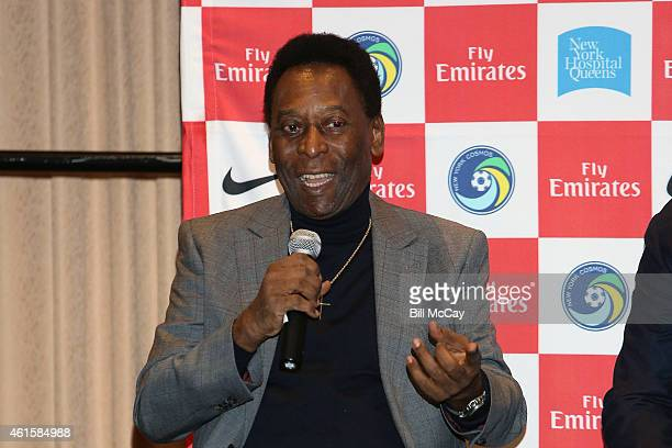 Pele attends a Q A at the 2015 MLS SuperDraft at the Pennsylvania Covention Center January 15 2015 in Philadelphia Pennsylvania