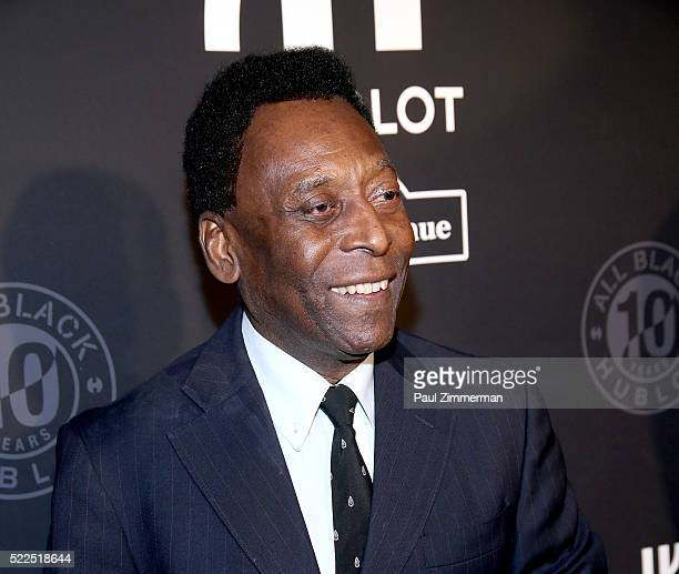 Pele attends the Hublot Celebrates 10 Year Anniversary Of All Black Collection at Solomon R Guggenheim Museum on April 19 2016 in New York City