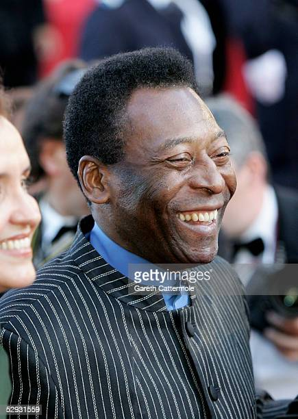 Pele attends the screening of Peindre Ou Faire L'Amour at the Palais during the 58th International Cannes Film Festival May 18 2005 in Cannes France