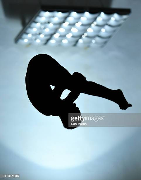 Pele Julien of Dive London Aquatics Club competes in the Mens 10m Preliminary Round on day three of the British Diving Championships at the Life...