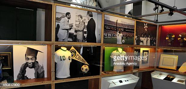 Pele Museum having the medals uniforms cleats copies of the contracts of the 'legend' football player Edson Arantes do Nascimento Pele attracts the...