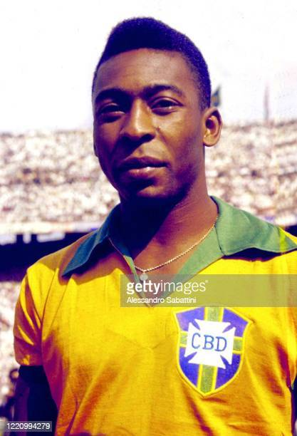 Pele of Brazil poses for photo during the 1970 World Cup in Mexico.