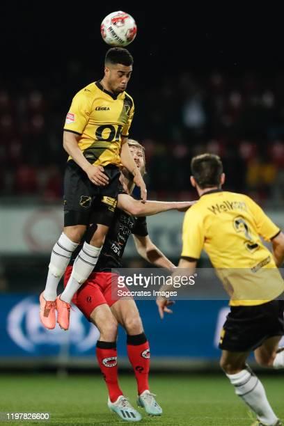 Pele van Anholt of NAC Breda, Thomas Verhaar of Excelsior Rotterdam, Roger Riera of NAC Breda during the Dutch Keuken Kampioen Divisie match between...