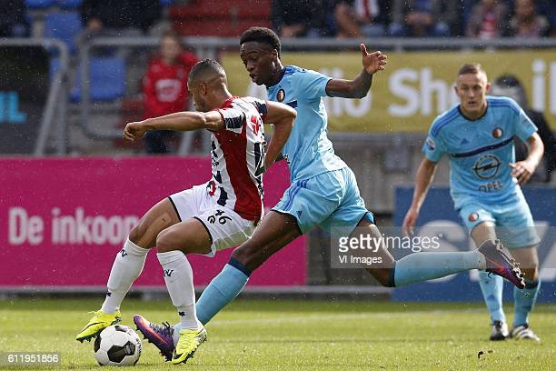 Pele van Anholt of Willem II Terence Kongolo of Feyenoordduring the Dutch Eredivisie match between Willem II Tilburg and Feyenoord Rotterdam at...