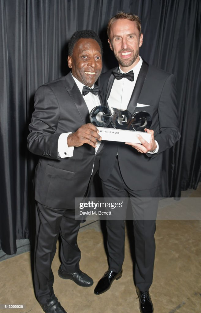 Pele, winner of the Inspiration award, and Gareth Southgate attend the GQ Men Of The Year Awards at the Tate Modern on September 5, 2017 in London, England.