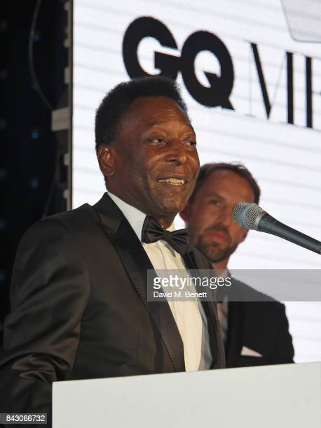 Pele winner of the Inspiration award and Gareth Southgate attend the GQ Men Of The Year Awards at the Tate Modern on September 5 2017 in London...