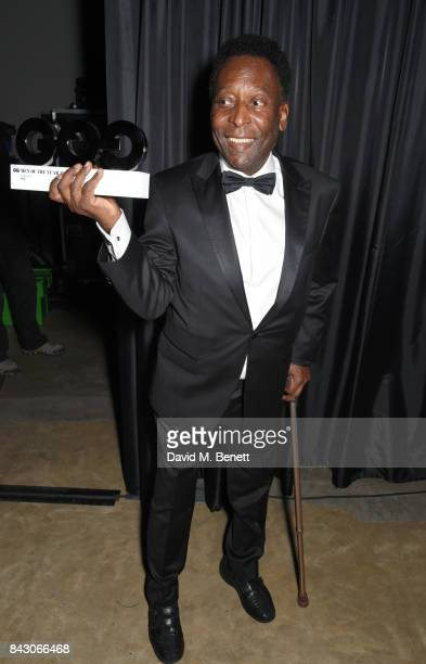 Pele winner of the Inspiration award attends the GQ Men Of The Year Awards at the Tate Modern on September 5 2017 in London England