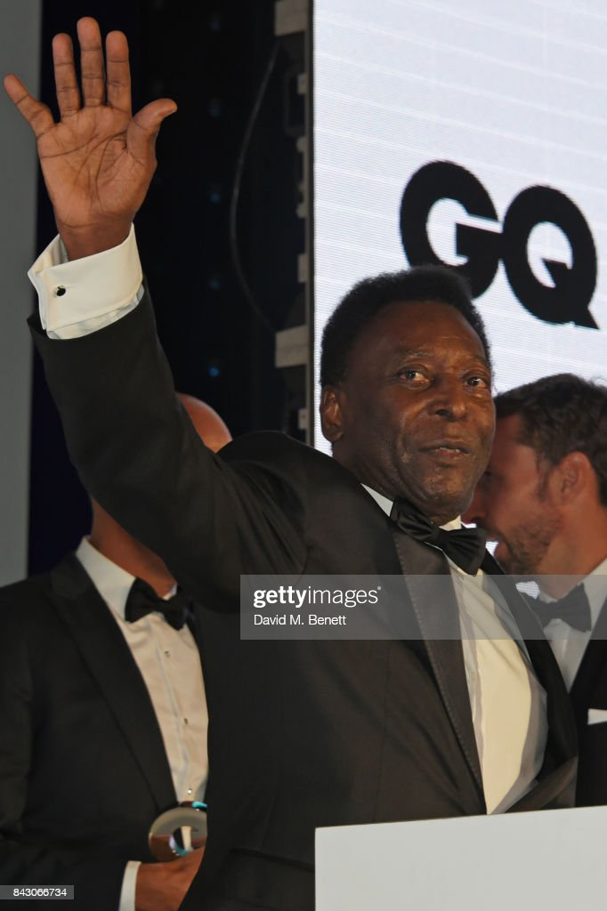 Pele, winner of the Inspiration award, attends the GQ Men Of The Year Awards at the Tate Modern on September 5, 2017 in London, England.