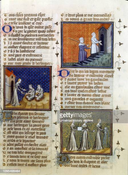Pelerinage de la Vie Humaine, Pilgrimage of Human Life, edition of 1393, by Guillaume de Deguileville , a French Cistercian and writer.
