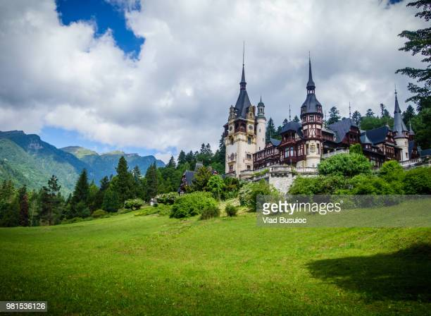 peles castle romania - romania stock pictures, royalty-free photos & images