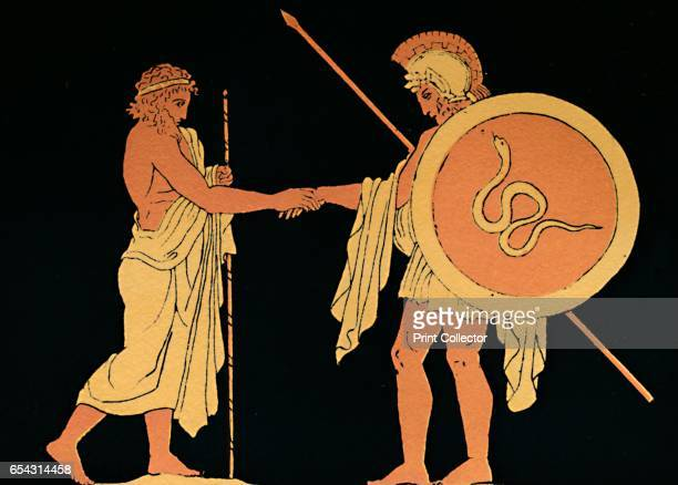 Pelias Sending Forth Jason, 1880. Pelias was king of Iolcus in Greek mythology, the son of Tyro and Poseidon. Jason was an ancient Greek mythological...