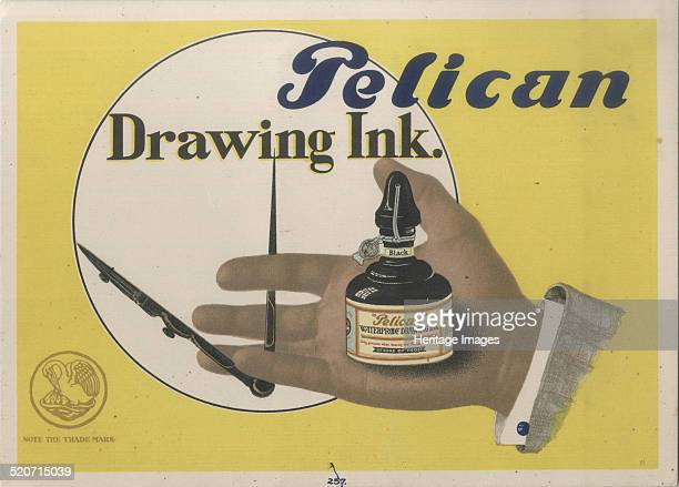 Pelican Ink Found in the collection of Russian State Archive of Literature and Art Moscow