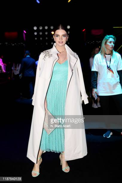 Pelin Karahan attends the Exquise show during MercedesBenz Fashion Week Istanbul March 2019 at Zorlu Center on March 22 2019 in Istanbul Turkey