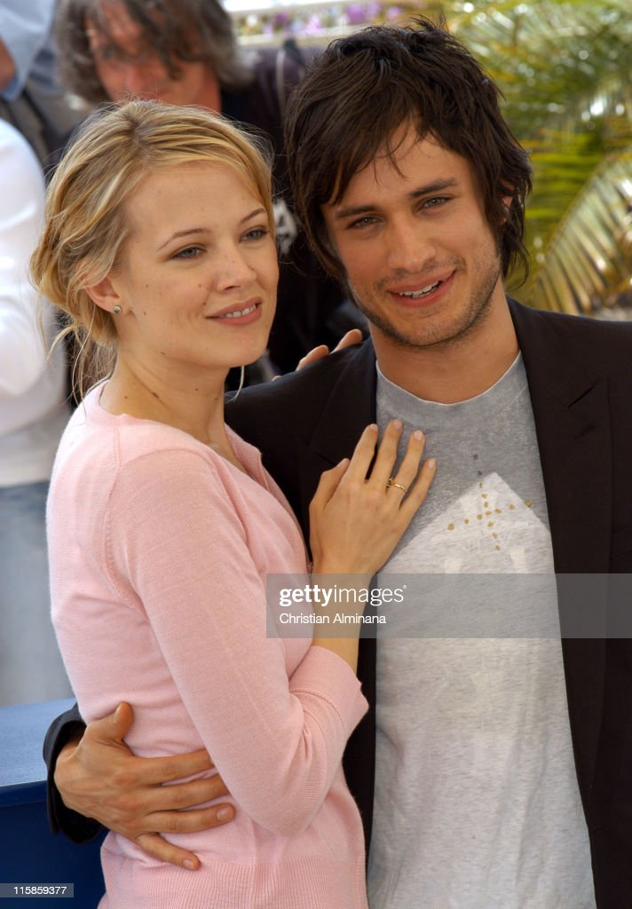 Pell James and Gael Garcia Bernal during 2005 Cannes Film Festival - 'The King' Photocall in Cannes, France.