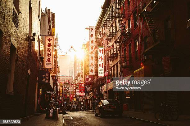 pell street chinatown - chinatown stock pictures, royalty-free photos & images