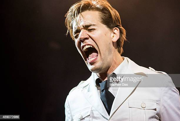 Pelle Almqvist from The Hives performs at HSBC Arena on November 15 2014 in Rio de Janeiro Brazil The band were opening for the Arctic Monkeys
