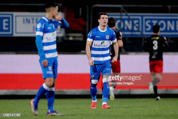 Pelle Clement of PEC Zwolle during the Dutch KNVB Beker match between Excelsior v PEC Zwolle at the Van Donge & De Roo Stadium on December 15, 2020...