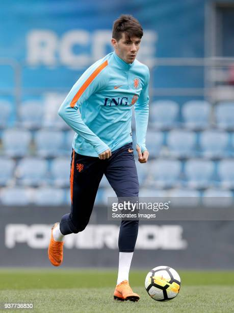 Pelle van Amersfoort of Holland U21 during the Training Holland U21 at the Ciutat Esportiva Dani Jarque on March 25 2018 in Mataro Spain