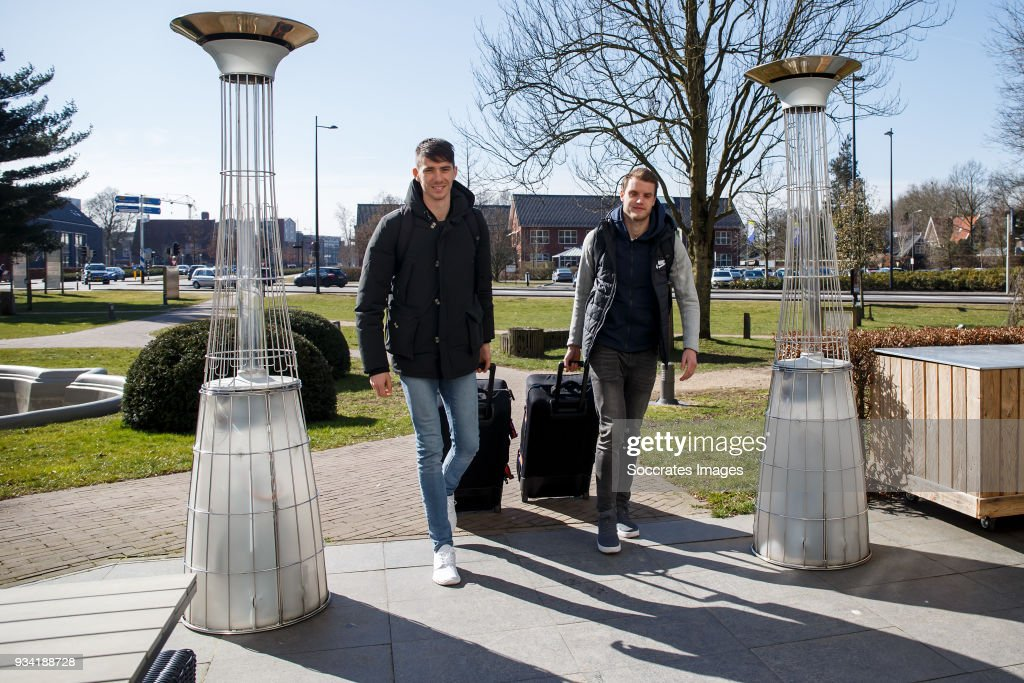 Netherlands U21 arrive at the KNVB Campus