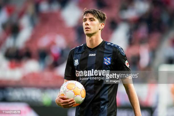 Pelle van Amersfoort of sc Heerenveen during the Dutch Eredivisie match between FC Utrecht and sc Heerenveen at the Galgenwaard Stadium on May 15...