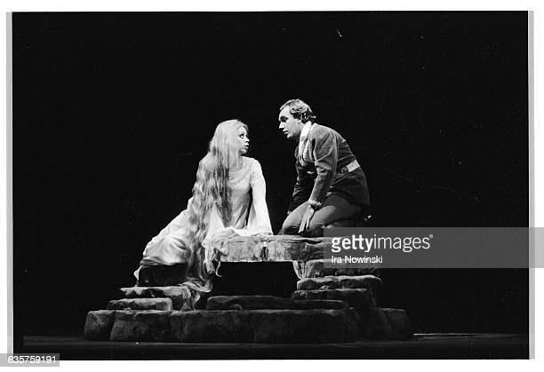 Pelleas and Melisande discover their love for one other in the opera Pelleas et Melisande Composer Claude Debussy
