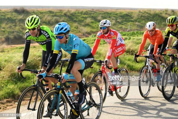 Pello Bilbao Lopez de Armentero of Spain and Astana Pro Team / Mikel Iturria of Spain and Team Euskadi Murias / Marco Frapporti of Italy and Team...