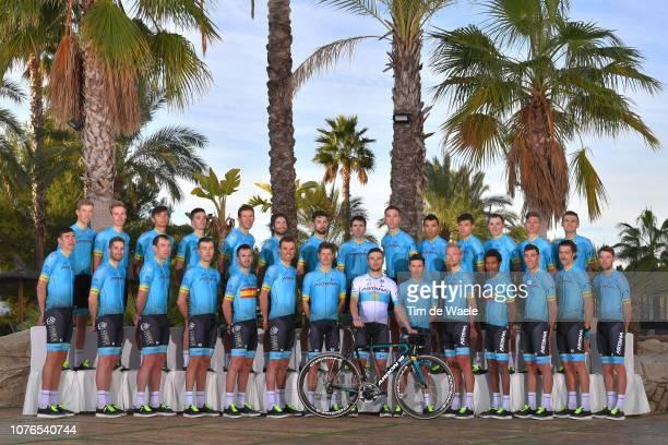 Pello Bilbao Lopez De Armentia of Spain and Astana Pro Team / Zhandos Bizhigitov of Kazakhstan and Astana Pro Team / Dario Cataldo of Italy and...