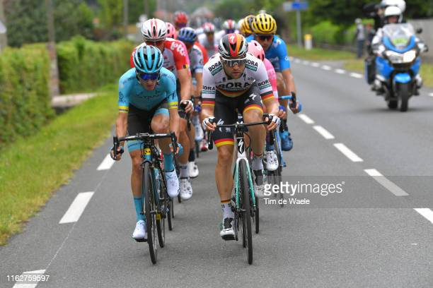 Pello Bilbao of Spain and Astana Pro Team / Maximilian Schachmann of Germany and Team Bora-Hansgrohe / during the 106th Tour de France 2019, Stage 12...