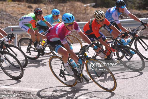 Pello Bilbao of Spain and Astana Pro Team Purple Leader Jersey / during the 42nd Tour of the Alps 2018 Stage 2 a 1455km stage from Lavarone to Alpe...