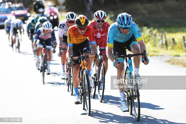 Pello Bilbao of Spain and Team Bahrain - Mclaren / Hugo Houle of Canada and Astana Pro Team / during the 107th Tour de France 2020, Stage 12 a 218km...