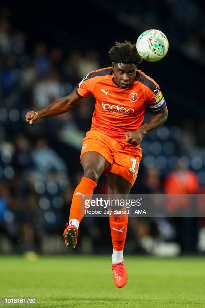 Pelly RuddockMpanzu of Luton Town during the Carabao Cup First Round match between West Bromwich Albion and Luton Town at The Hawthorns on August 14...