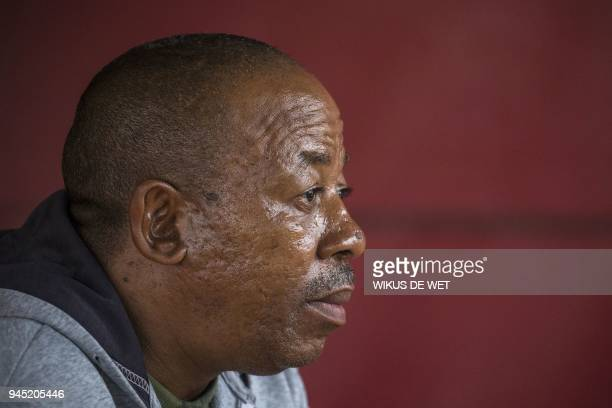 Pelo Mekgwe an antiapartheid activist talks on April 9 2018 in Ikageng South Africa as he recounts his kidnapping and beating by members of the...