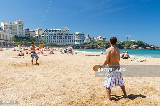 Pelote basque on Biarritz beach may 2010